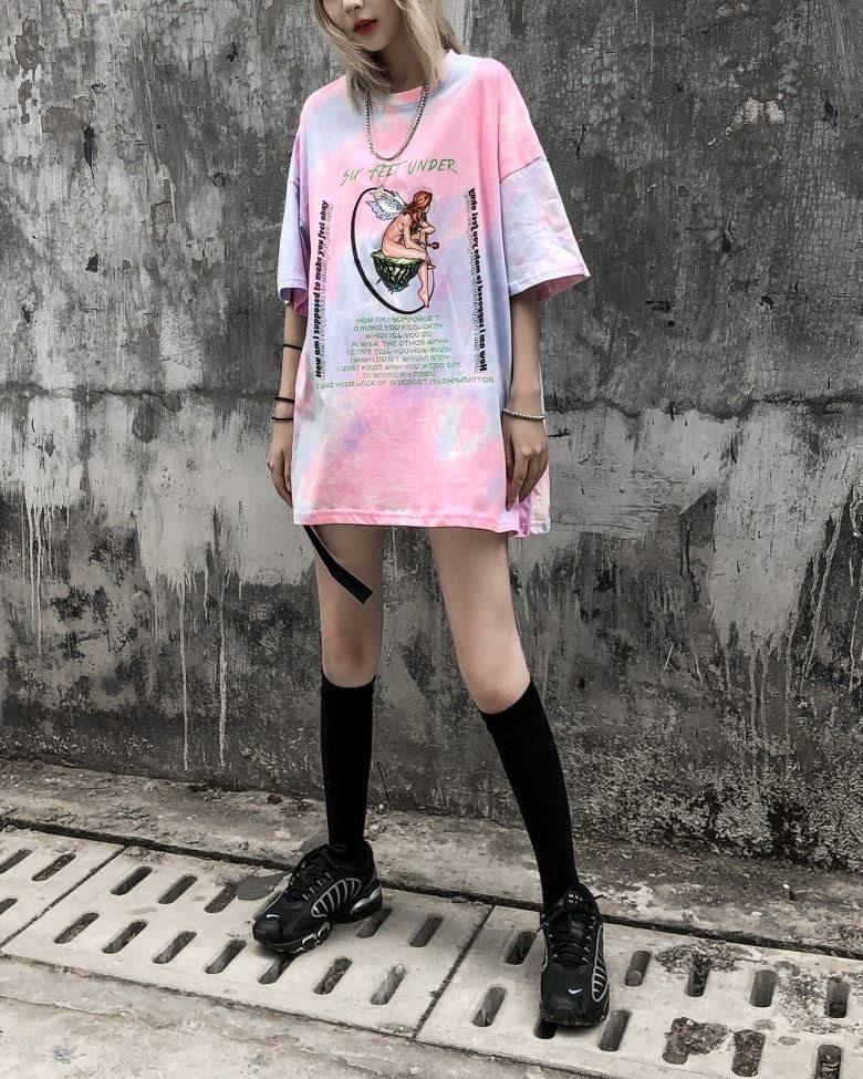 《2色》マーブルタイダイエンジェルTシャツの画像7